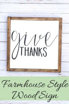 This Give Thanks sign is the perfect piece to display on your mantle, or hang on a wall throughout the fall and thanksgiving season. Give Thanks Sign, Give Thanks Farmhouse Sign, Fall Mantle Decor, Farmhouse Fall Sign, Fall Thanksgiving Sign, Fall Wood Sign, Rustic Fall, farmhouse style, fixer upper look, sponsored