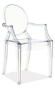 Philippe Starck Ghost Chair- I'm obsessed. Adds THE perfect mixture of modernity and taste whilst maintaining an ultra classic shape