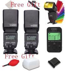 2* Yongnuo YN685 Wireless Flash Speedlite E-TTL 1/8000s +YN622C-TX LCD for Canon #Yongnuo