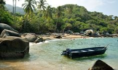 Tayrona national park is 'the Colombian Caribbean in its wild, untamed state, all blue sea crashing on to golden sands'.