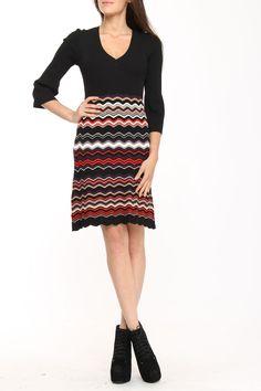 Nine West Sweater Dress In Dark Plum Combo.