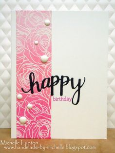 A Blog Named Hero: Pink ombre birthday cards
