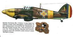 Hawker Hurricane Mk. I, pilot Emil Georgescu