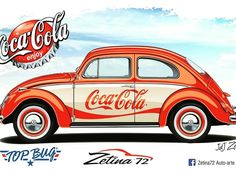 Classic Car News Pics And Videos From Around The World Coca Cola, Volkswagen, Coke Ad, Harley Davidson, Royce Car, Best Muscle Cars, Vw Cars, Car Posters, Vw Beetles