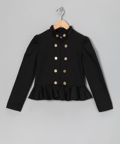 Take a look at this Black Lesley Blazer - Toddler & Girls on zulily today!