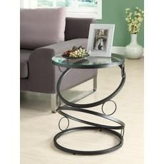 Matte Black Metal Accent Table w/ Tempered Glass - Monarch Specialties a contemporary appeal to your space with this matte black accent table. Its unique, connecting circle designed base definitely that accentuates this piece. Black Accent Table, Metal Accent Table, Metal End Tables, Modern End Tables, Accent Tables, Side Tables, Console Tables, Iron Furniture, Steel Furniture