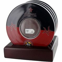 Steiner Sports Houston Astros 45th Anniversary Set of 4 Coasters with Game Field Dirt