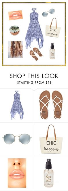 """Beach Day"" by bluejasmine360 ❤ liked on Polyvore featuring Billabong, Ray-Ban, Straw Studios, Olivine and Urban Decay"