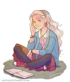 vasirasart:  I've been seeing a lot of Luna Lovegood on my dash lately and I wanted to join the fun. So here's a Luna for your dash.