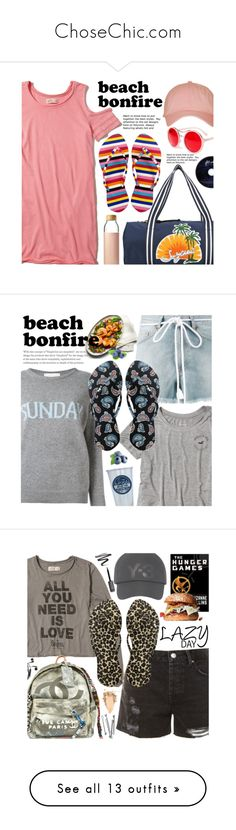 """""""ChoseChic.com"""" by beebeely-look ❤ liked on Polyvore featuring FlipFlops, chosechic, Hollister Co., A.J. Morgan, See by Chloé, Topshop, Soma, casualoutfit, shirtdress and beachbonfire"""