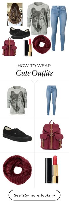"""Cute school outfit idea !"" by kamilla-fyle on Polyvore featuring 7 For All…"