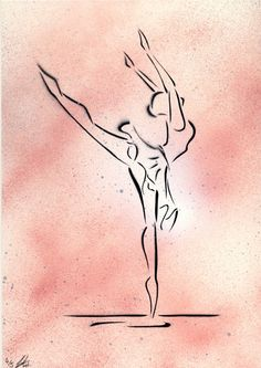 'Oltremare' Ballet Dancer painting