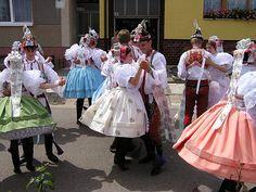 The Four Corners of the Czech Republic, Pt. Folk Costume, Costumes, Dirndl Skirt, Folk Clothing, Folk Dance, People Of The World, Beautiful Patterns, Czech Republic, Harajuku