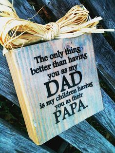 The Original DAD and PAPA Block Sign Choose Your by DesignsBySyds, $13.99
