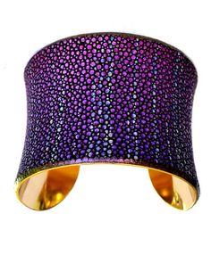 purple sparkle cuff