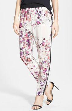 Chelsea28 Print Woven Track Pants: Loveit