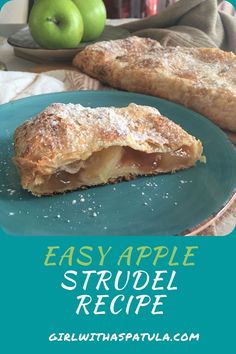 Apple Strudel is much easier to make from scratch than you think! Especially when you use pre made puff pastry and apple pie filling. With its flaky crust and a spiced apple filling, this Apfelstrudel recipe will be ready in less than one hour and is sure to wow your guests. #food #cake #foodporn #yummy #foodie #instafood #delicious #sweet #foodphotography #desserts #instagood #tasty #foodstagram #icecream #baking #yum #foodpics #pastry #dessertporn #foodblogger #cakes #foodgasm #homemade Easy Apple Strudel Recipe, Strudel Recipes, Apple Pie, Apfelstrudel Recipe, Desserts To Make, Dessert Recipes, My Favorite Food, Favorite Recipes, Apple Filling