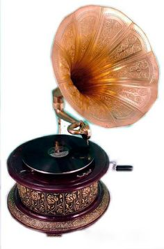 beautiful antique gramophone to replace my modern 'vintage' electric record player