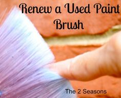 This is such a great tip on how to renew a Used Paint Brush | tutorial idea for art supplies