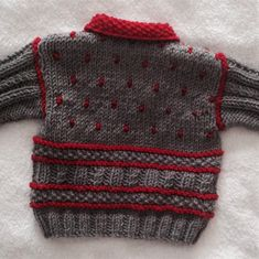 Winter warm is how this little jacket turned out. With some fun bobble spots to … Winter warm is how this little jacket turned out. With some fun bobble spots to cheer up any cold day. Christmas Knitting Patterns, Baby Knitting Patterns, Baby Boy Knitting, Baby Pullover, Baby Scarf, Crochet Fall, Dress Gloves, Baby Warmer, Yarn Brands