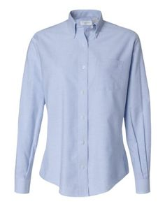 Van Heusen Ladies Oxford Shirt 13V0002  Light Blue  Medium >>> Click on the image for additional details.Note:It is affiliate link to Amazon.