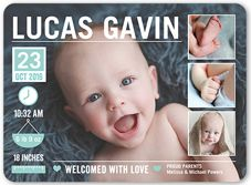 Flat Boy Neutral Birth Announcements & Baby Birth Announcement Cards | Shutterfly