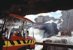 Catastrophe Canyon on the Backlot Studio Tram Tour at Disney's Hollywood Studios..