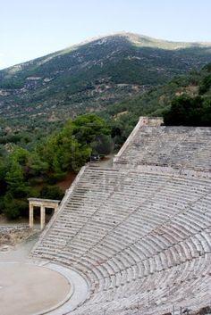 Antiguo teatro antiguo santuario de Asklepios Epidauro Grecia