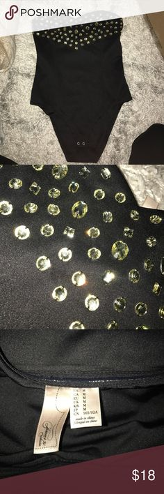 Jeweled body suit Worn 1 time! Other