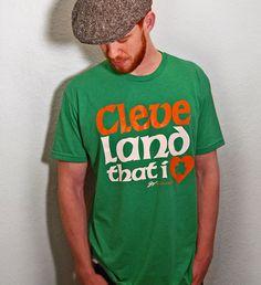 Cleveland That I LOVE Irish Font