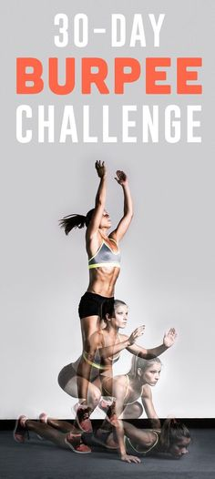 Burpees are an incredibly efficient full-body exercise that tone every major muscle group. Essentially, they're three exercises in one — a squat, a push-up and a jump. If you're looking for a new workout challenge, here you go!