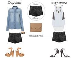 leather shorts for daytime + nighttime