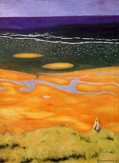 """Felix Vallotton """"The Rising Tide"""", 1913 (Switzerland, Post-Impressionism, cent. Kunst Online, Online Art, Landscape Art, Landscape Paintings, Pierre Bonnard, Magic Realism, French Art, Oeuvre D'art, Canvas Art Prints"""