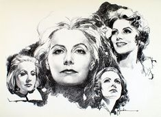Greta Garbo 6 (Limited Edition Print) art by Jose (Pepe) Gonzalez at The Illustration Art Gallery