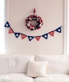 Patriotic Party Banner Free Crochet Pattern in Red Heart Yarns