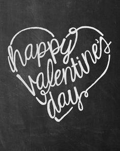Valentine's Day Chalkboard Free Printable Sign