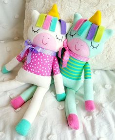 Unicorn Softie Sewing Pattern - Sleepy Soft Fleece Toy Animal Sewing Pattern Tutorial for Babies Girls & Boys children kids - PDF e pattern Animal Sewing Patterns, Stuffed Animal Patterns, Sewing Patterns Free, Doll Patterns, Bear Patterns, Pattern Sewing, Clothes Patterns, Dress Patterns, Baby Sewing Projects