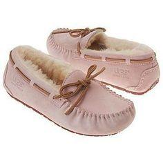 NIB NEW In Box Girl's UGG Australia DAKOTA Slippers Moccasins Pale Pink 12