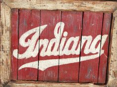 Indiana Hoosiers Framed Pallet Sign on Etsy, $50.00