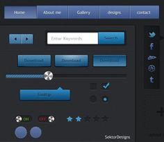 Beautiful Blue Web UI Elements Kit PSD - https://gooloc.com/beautiful-blue-web-ui-elements-kit-psd/