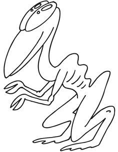 Alien creature coloring page