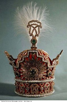 Mohammad Reza Shah's Crown adorned in precious jewels.(Former King of Iran.)
