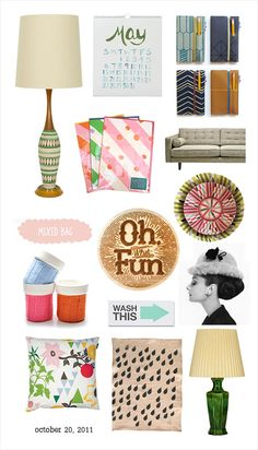 """Oh fun"" is right... I want it all. Especially that lamp."
