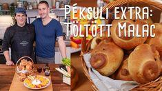 Péksuli extra: Töltött malac | Mindmegette.hu Tacos, Mexican, Bread, Cooking, Ethnic Recipes, Food, Youtube, Cuisine, Kitchen