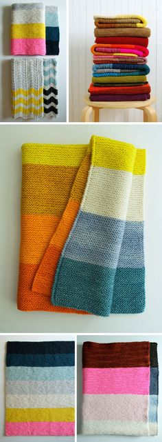 Colorblock knitting