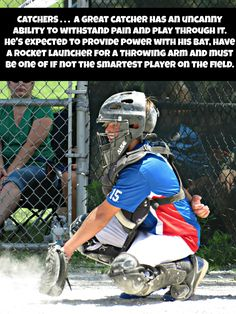 BASEBALL . . . CATCHERS Remember these days with softball?