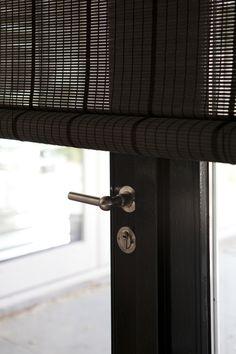 Project of Stock Interiors Window Hardware, Drapery Hardware, Door Knobs, Door Handles, Bay Window Treatments, Home Interior Design, Interior Doors, Custom Drapes, Window Styles