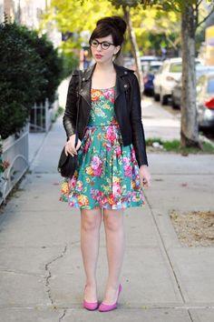 vestido floreado pin up