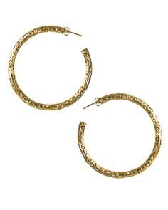 maggie filigree hoop earrings in gold