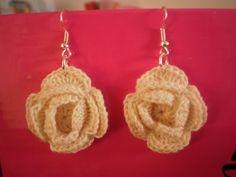 white crochet earrings  :) diy